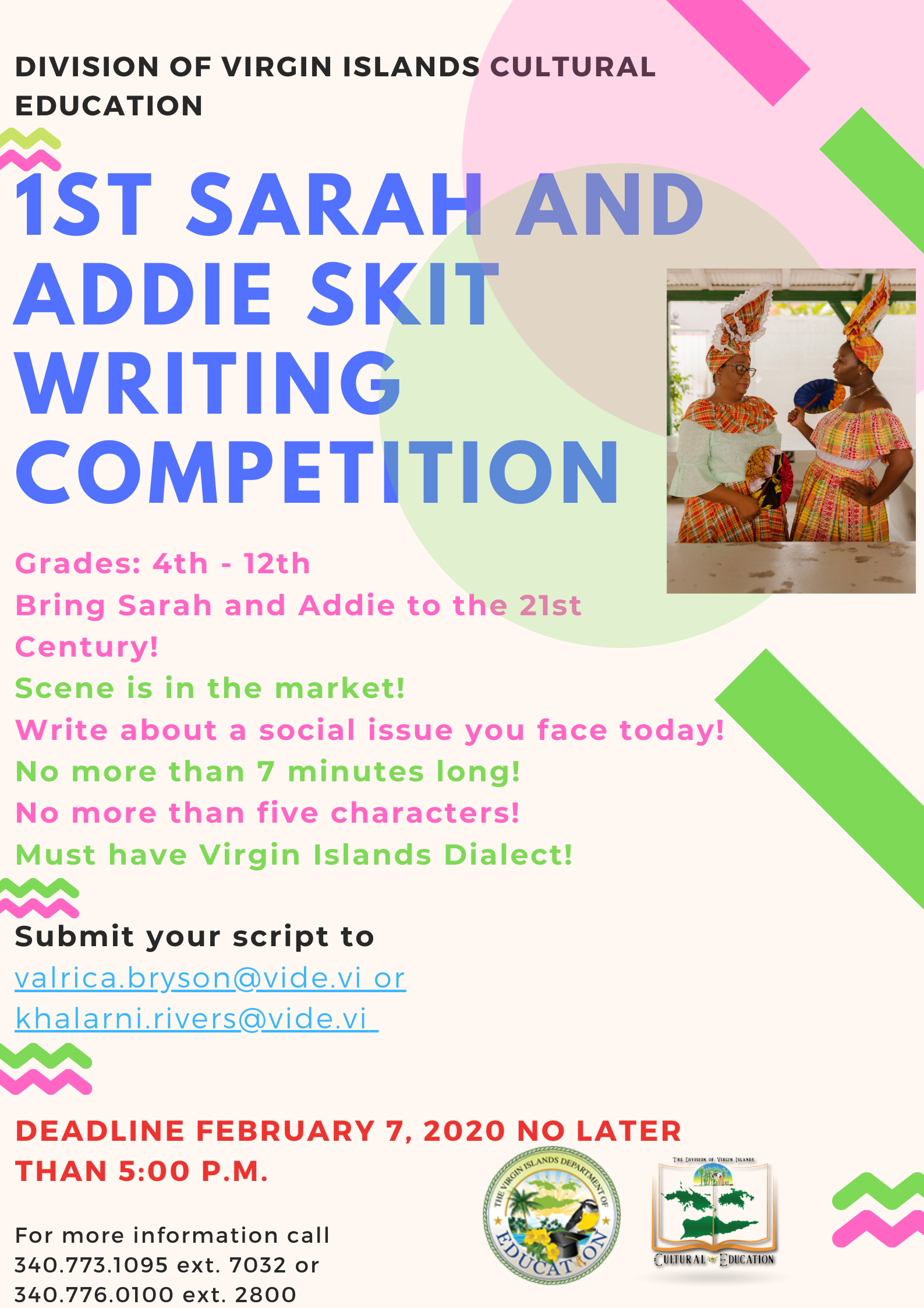 Sarah and Addie Skit writing competition-logo.png