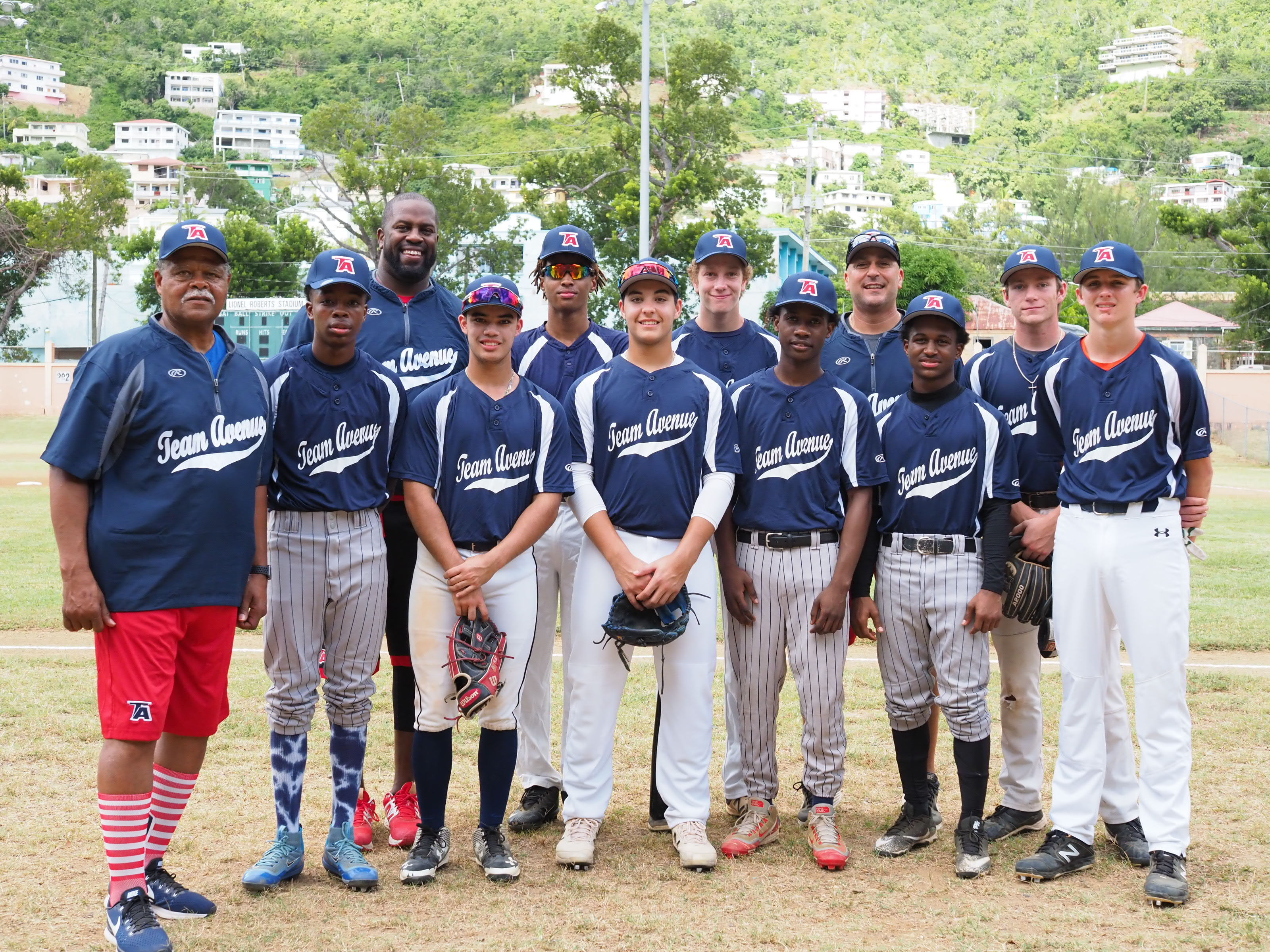 Team Avenue Baseball Cruise Camp alongside Coach Thomari Story-Harden and Legendary Coach Reggie Smith.jpg