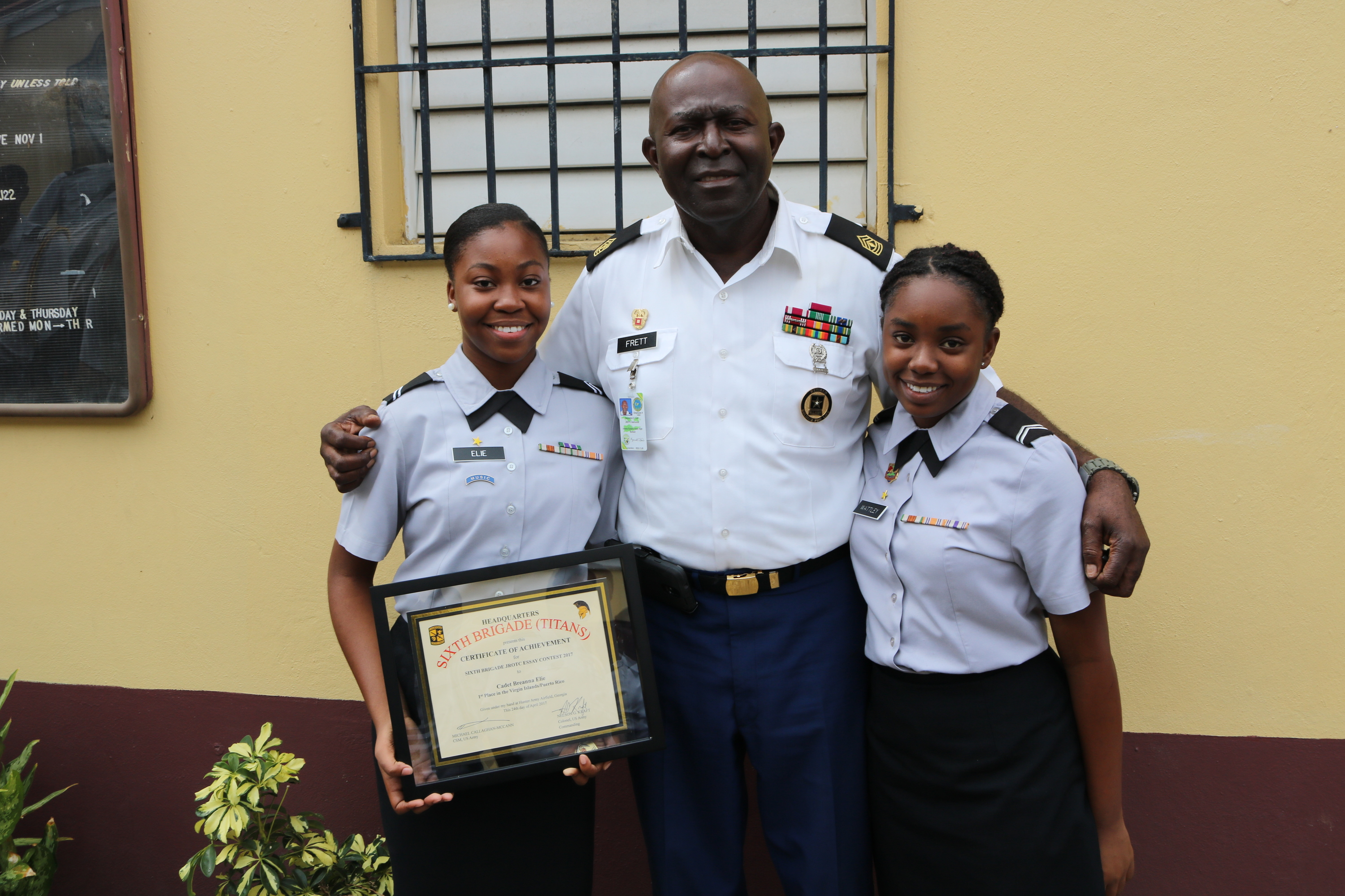 iekhs freshman receives top honors in caribbean region of jrotc  iekhs freshman receives top honors in caribbean region of jrotc national essay contest
