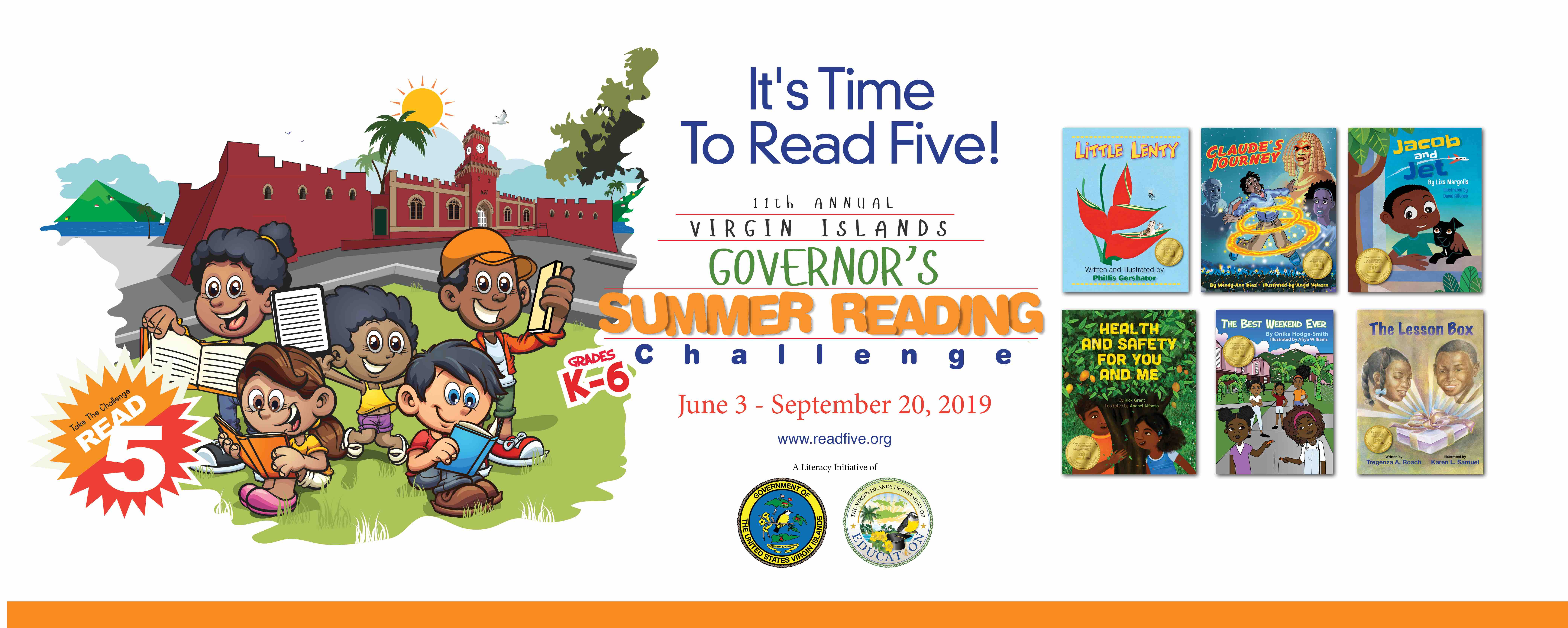 It's Time To Read Five!