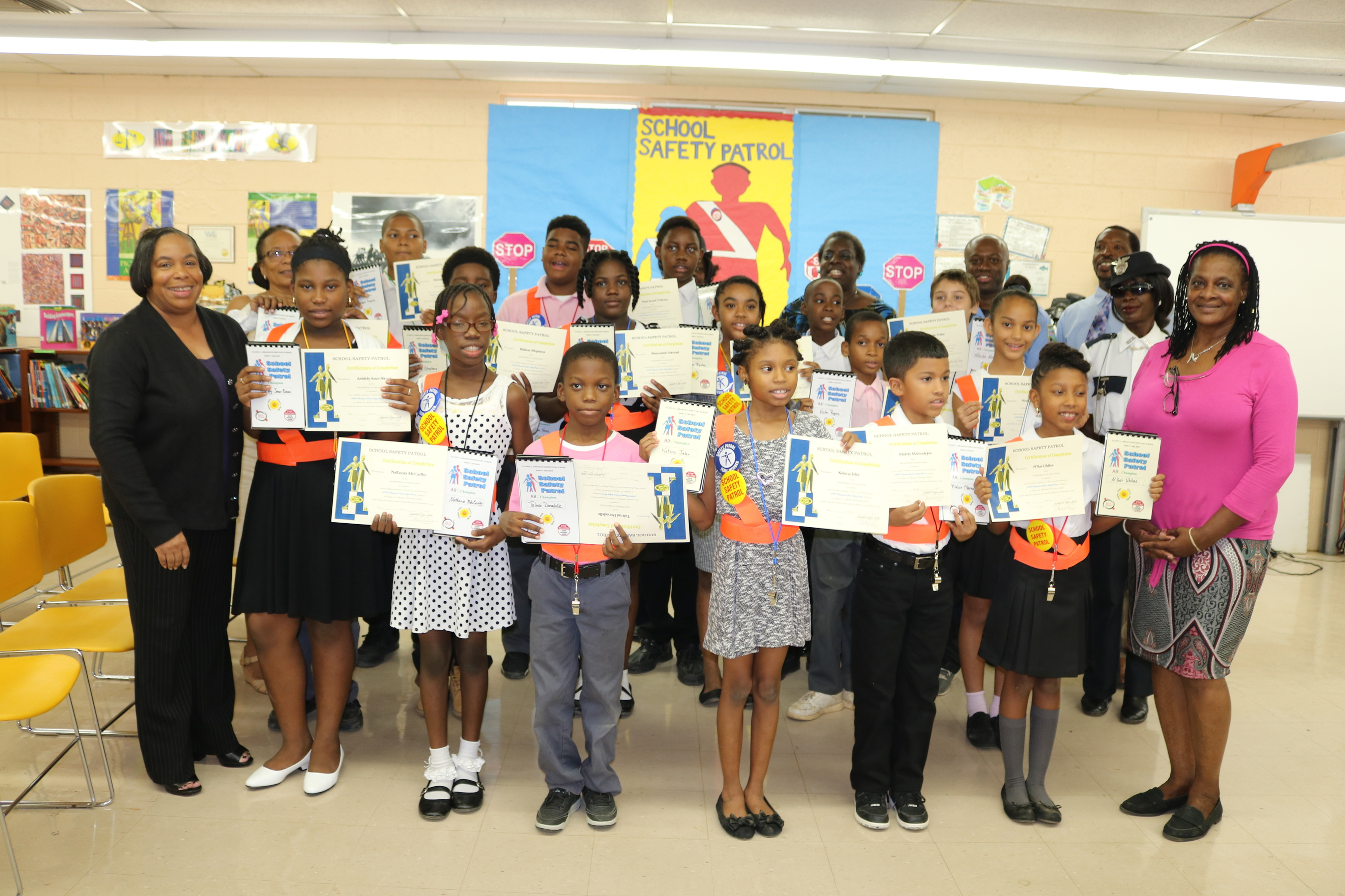 Gladys Abraham Elementary Certifies 17 School Safety Patrol Student Officers