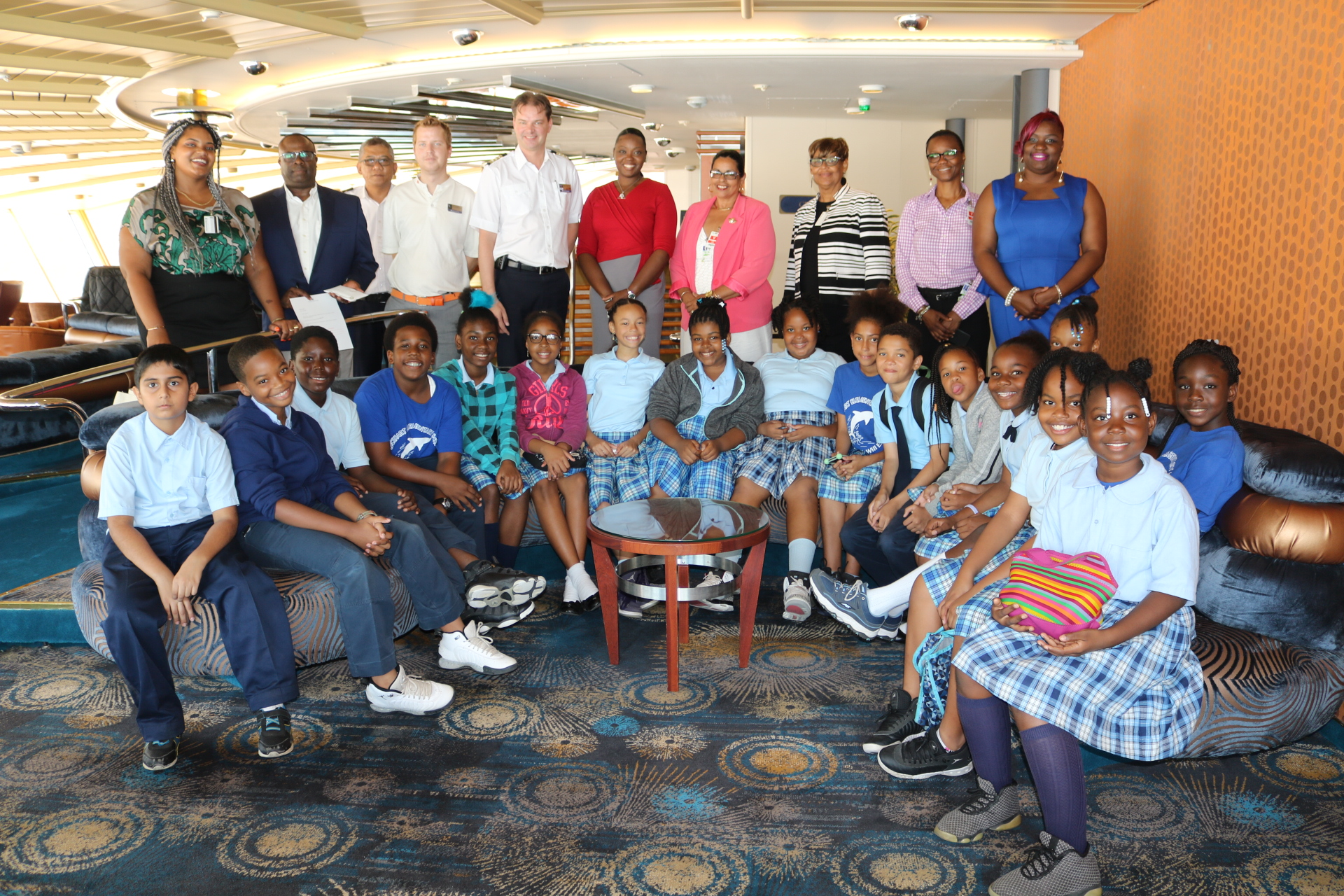 Lockhart students, Prinsendam Crew and Education and Tourism officials aboard the ms Prinsendam.jpeg