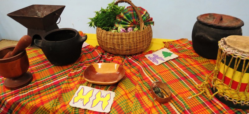 Cultural items on display @ COMS V.I. History Program.jpg