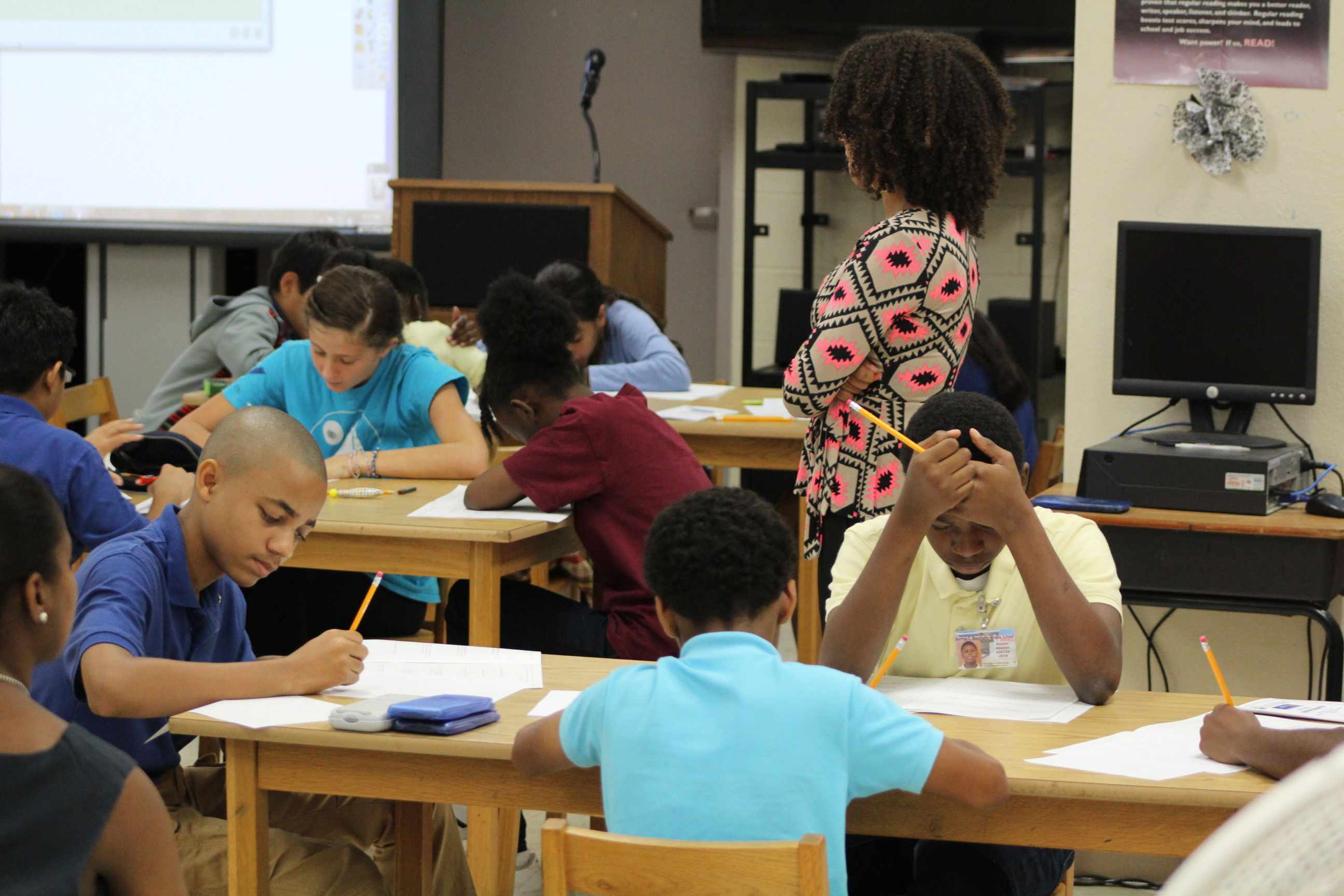 Students work through their MATHCOUNTS booklet in the Sprint round.jpg