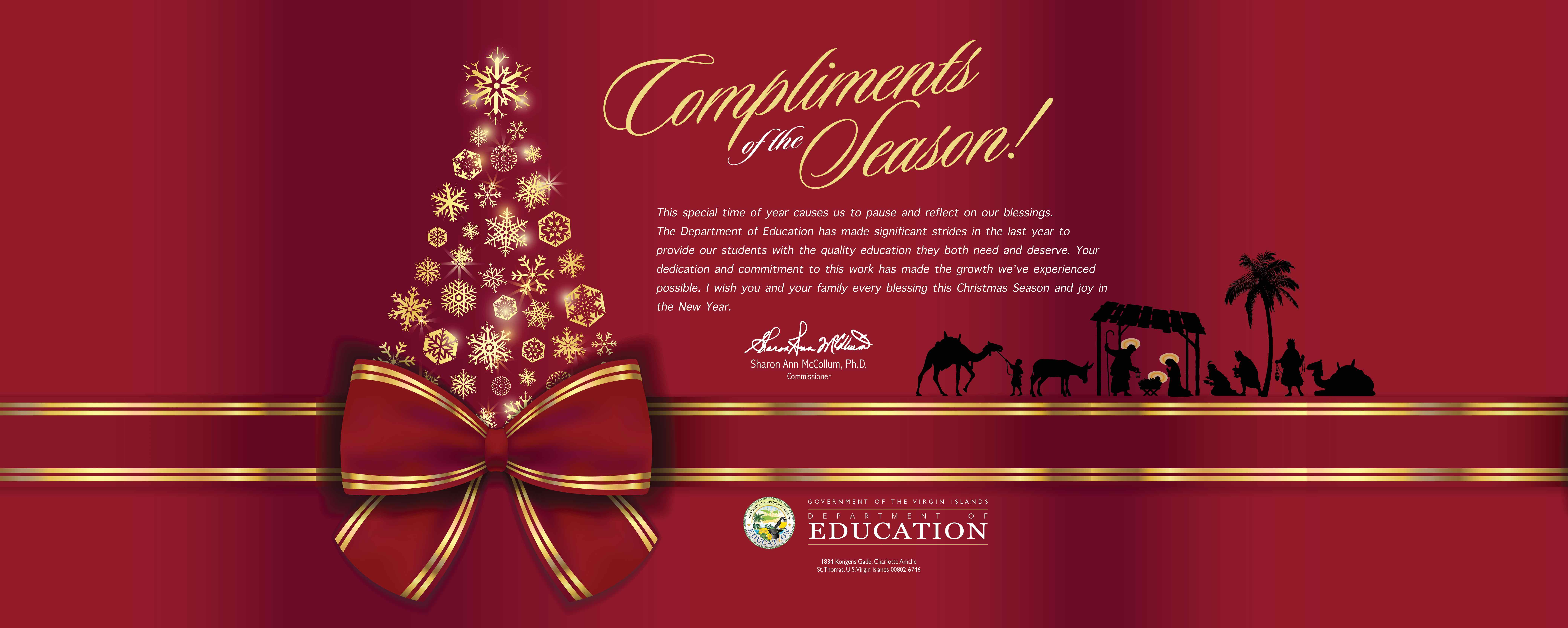 Seasons greetings from commissioner mccollum m4hsunfo