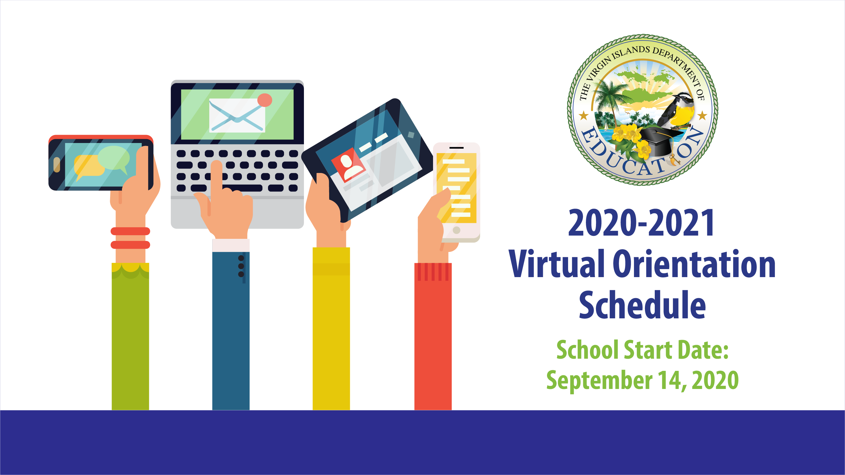 2020-2021 Virtual Orientation Schedules and more
