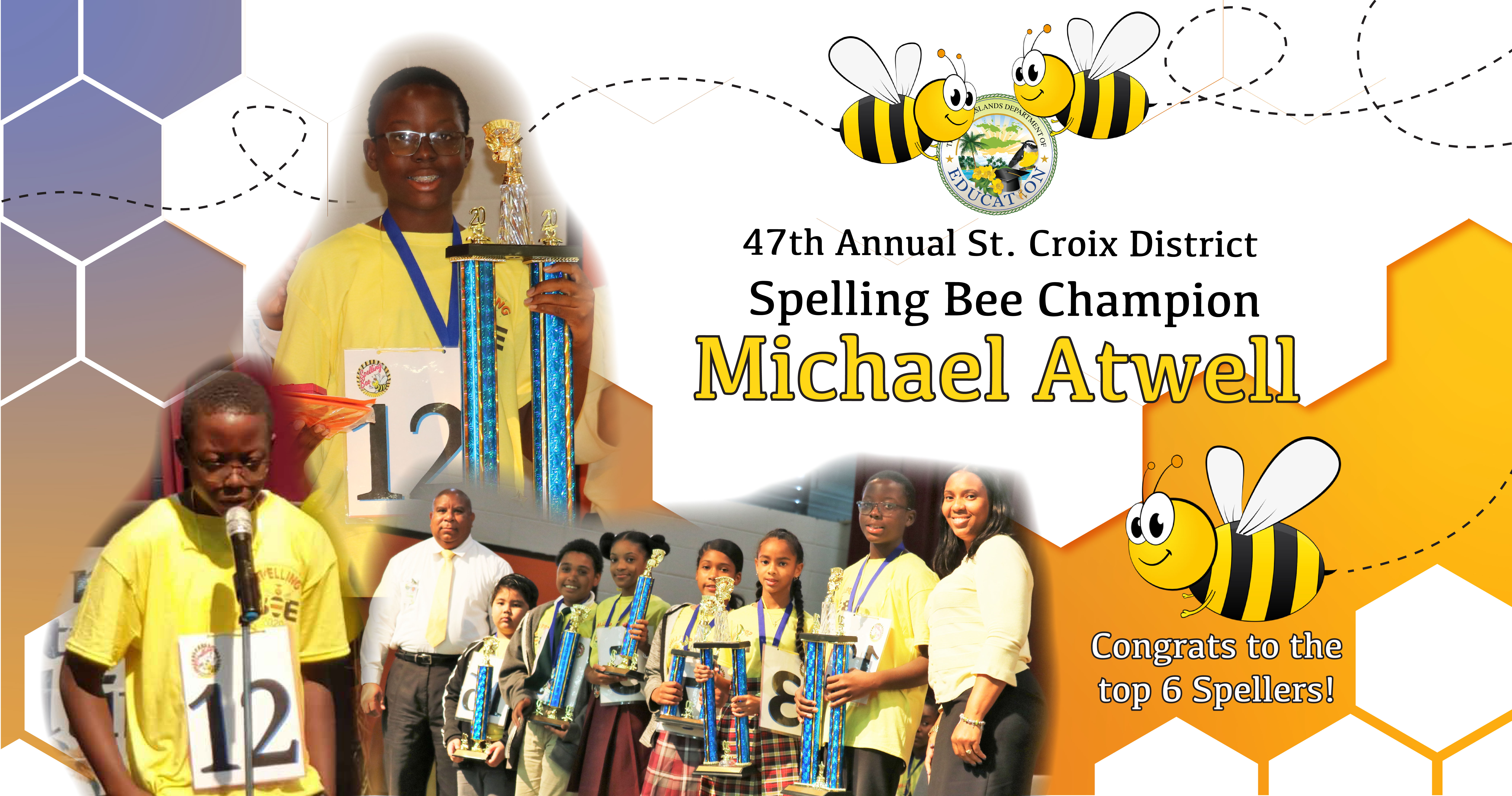 Michael Atwell wins 47th Annual St. Croix District Spelling Bee